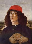 Medici portrait of the man card Botticelli