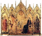 The Annunciation with St. Margaret and St. Asano, Simone Martini