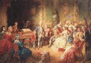 the young mozart being presented by joseph ii to his wife, the empress maria theresa antonin dvorak