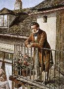 an idealized porrait of the composer on his balcony franz von schober