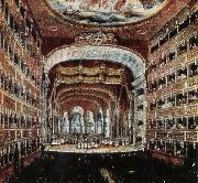 the interior of the teatro san carlo in naples where several of rossini s operas were fist performed leigh hunt