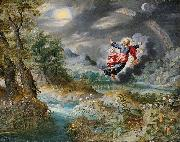 God creating the Sun, the Moon and the Stars Jan Brueghel the Younger