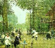 the cycle hut in the bois de boulogne, c. Jean Beraud