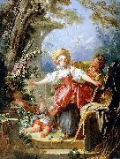 The Blind man bluff game Jean-Honore Fragonard