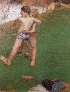 chidren wrestling Paul Gauguin