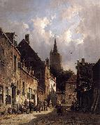 A Dutch Street Scene Adrianus Eversen