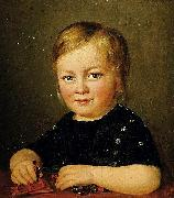 Child with toy figures Anonymous