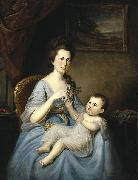 Mrs. David Forman and Child Charles Willson Peale
