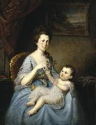 Mrs David Forman and Child Charles Willson Peale