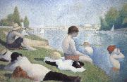 batbers at asnieres Georges Seurat