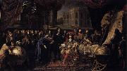 Colbert Presenting the Members of the Royal Academy of Sciences to Louis XIV in 1667 Henri Testelin