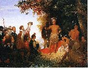 The Coronation of Powhatan John Gadsby Chapman