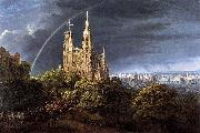 Gothic Cathedral with Imperial Palace Karl friedrich schinkel