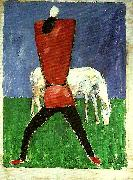 peasant and horse Kazimir Malevich