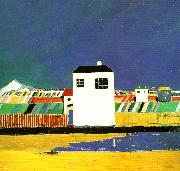 landscape with a white house Kazimir Malevich