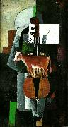cow and violin Kazimir Malevich