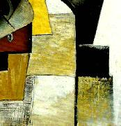 detail of portrait of the composer matiushin, Kazimir Malevich