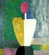 half figure with a  pink face Kazimir Malevich