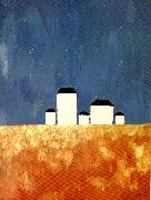 landscape with five houses Kazimir Malevich