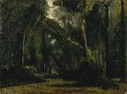 Landscape in the Forest at Compiegne Paul Huet