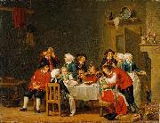 Convivial Scene in a Peasant Cottage Pehr Hillestrom
