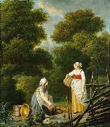 Two Maid Servants at a Brook Pehr Hillestrom