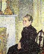 Portrait of Madame Charles Maus Theo Van Rysselberghe
