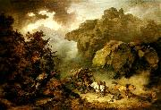 landscape with carriage in a storm Philippe Jacques
