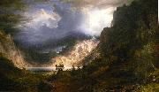 A Storm in the Rocky Mountains Albert Bierstadt