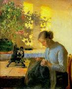 Sewing fisherman's wife Anna Ancher