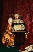 Portrait of Archduke Ferdinand (1769-1824) and Archduchess Maria Anna of Austria (1770-1809), children of Leopold II, Holy Roman Emperor Anton Raphael Mengs