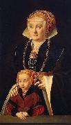 Portrait of a Lady with her daughter Barthel Bruyn