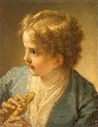 Boy with the flute by tuscan painter Benedetto Luti Benedetto Luti