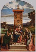 The Madonna and Child with Sts John the Baptist and Mary Magdalen CIMA da Conegliano