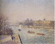 Morning, Winter Sunshine, Frost, the Pont-Neuf, the Seine, the Louvre, Soleil D'hiver Camille Pissarro