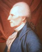 Oil on canvas painting of Richard Henry Lee Charles Willson Peale