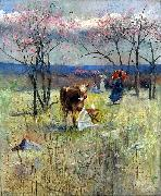 An Early Taste for Literature Charles conder