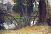Landscape close to the artist s house in Fouras Charles-Amable Lenoir
