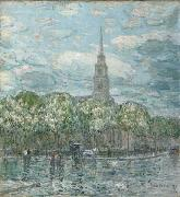 Marks in the Bowery Childe Hassam