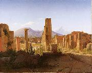 The Forum, Pompeii, with Vesuvius in the Distance Christen Kobke