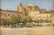 The square in Sulmona Edvard Petersen