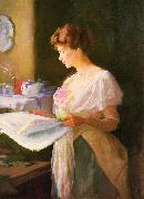 Morning News. Private collection Ellen Day Hale