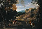 Landscape with a Hunting Party  Gian  Battista Viola