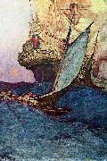 An Attack on a Galleon Howard Pyle