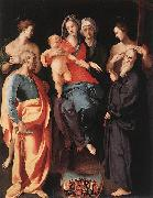 Madonna and Child with St Anne and Other Saints Jacopo Pontormo
