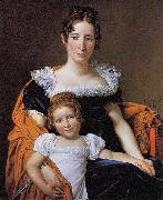 Portrait of the Countess Vilain XIIII and her Daughter Louise Jacques-Louis David