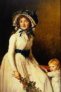 Portrait of Madame Seriziat and her son Jacques-Louis David