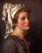 Louis David Portrait Of A Young Woman In A Turban Jacques-Louis David