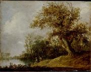 Pond in the Woods. Jan van Goyen