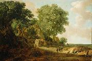 Landscape with Cottage and Figures Jan van Goyen